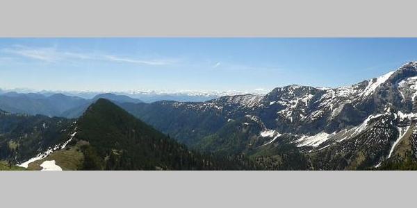 Panorama vom Schneidjoch
