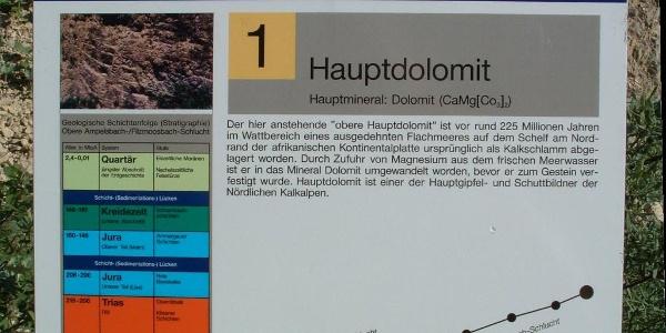 Station 1:  Hauptdolomit