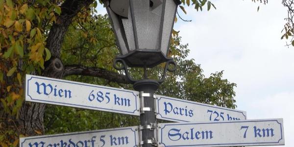 internationale Wegzeichen