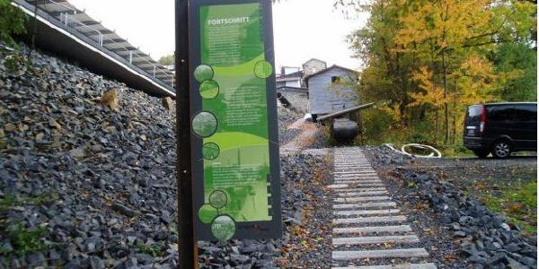 Mit dem Bremsberg beginnt der Weg des Basaltes