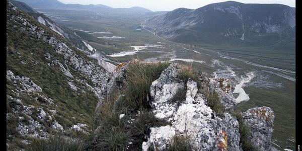 Campo Imperatore vom Aufstieg zum Monte Brancastello