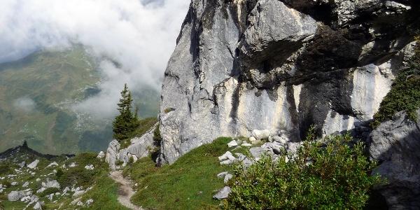 Wanderweg am Prättigauer Höhenweg