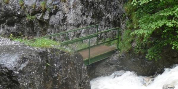 Brücke in der Ehnbachklamm