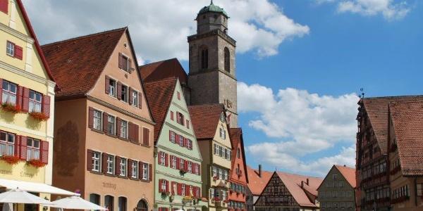Blick auf das Münster in Dinkelsbühl