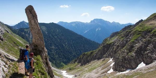 Bergtour - Hochblasse, kurz vor der Roggentalgabel