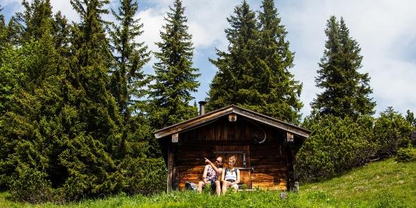 Bergtour - Weitalpspitz, an der Weitalm