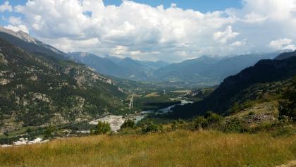Blick auf Haute Val Durance bei Champcella