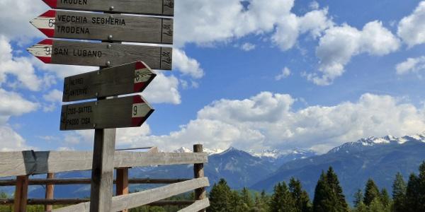 Tabelle escursionistiche alle Malghette