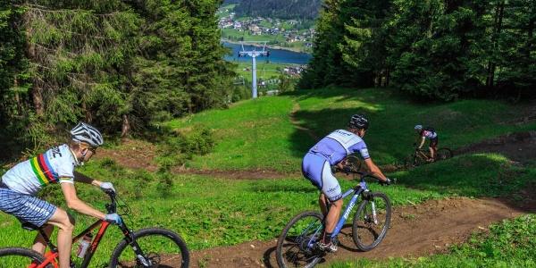 Mountainbike-Singletrail Weissensee