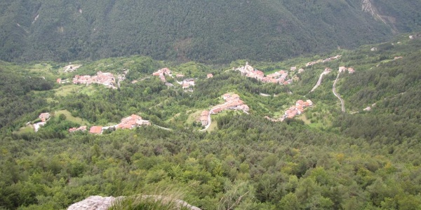 Veduta panoramica sulla Val di Terragnolo