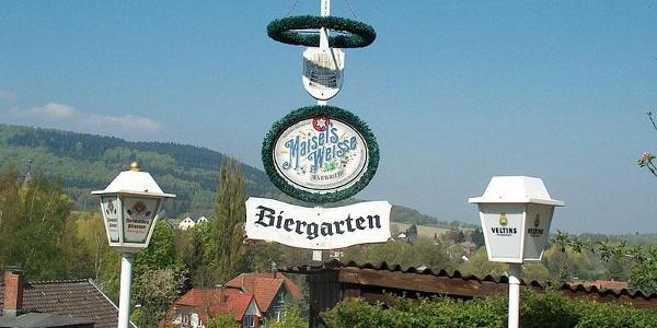 Biergarten am Hotel Das Idyll