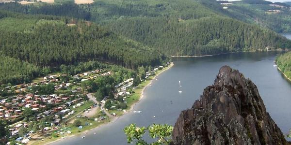 Blick auf den Campingplatz Hopfenmühle