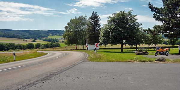 Kurz vor Müllenbach am Nürburgring