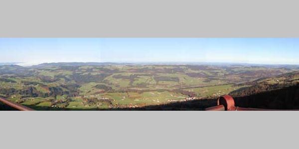 Panoramaussicht vom Koyenstein - Allgäuer Picknickplätze