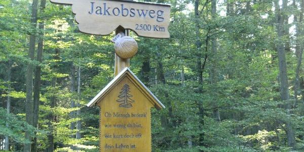 Hinweistafel Jakobsweg