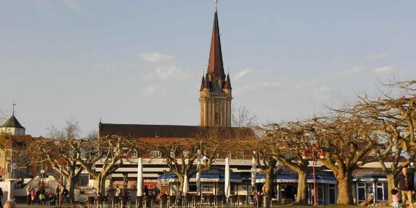 Mole Radolfzell, Blick zum Münster