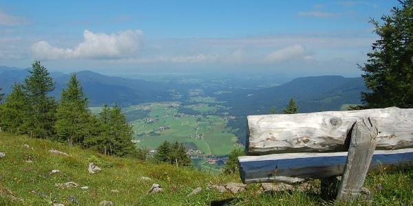 Herrlicher Talblick auf Inzell und Umgebung