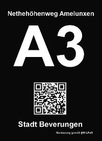 Wegekennzeichnung A3