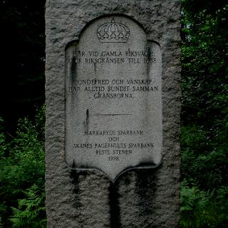 Gränsstenen mellan Skåne och Blekinge