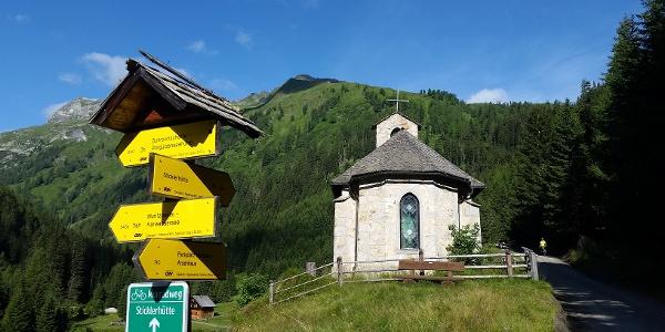 Weggabelung Sticklerhütte, Karwassersee