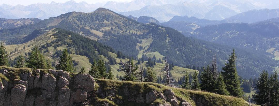 Blick vom Rindalphorn auf den Alpenhauptkamm