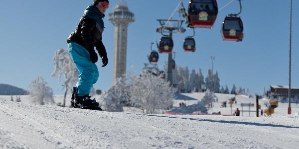 Snowboarden im Skigebiet Willingen