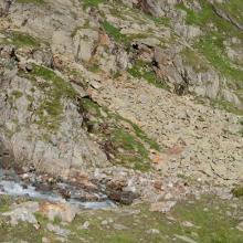 Wasserfall an der Glorer-Hütte