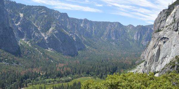 Blick vom Columbia Rock auf das Yosemite Valley