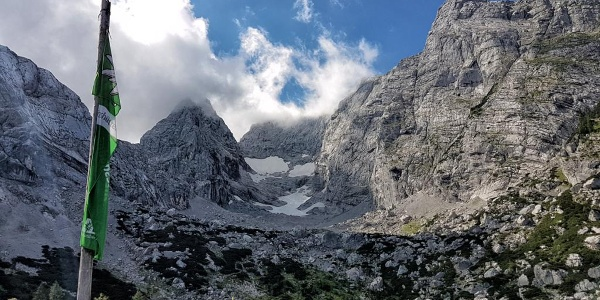 Blick von der Blaueishütte zum Blaueisgletscher