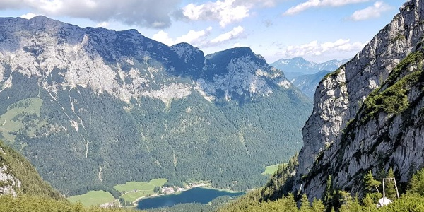 Blick von der Blaueishütte zum Hintersee