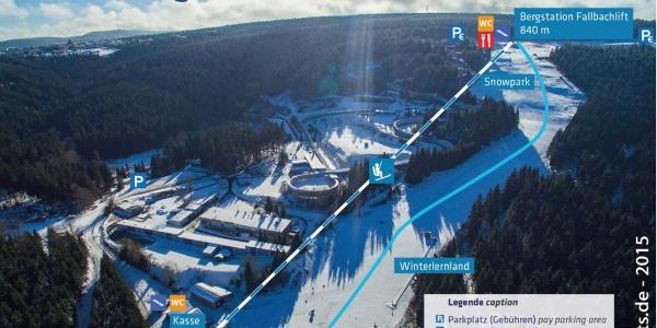 Der Pistenplan vom Fallbachhang in Oberhof