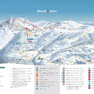 Cartina sciistica Merano 2000