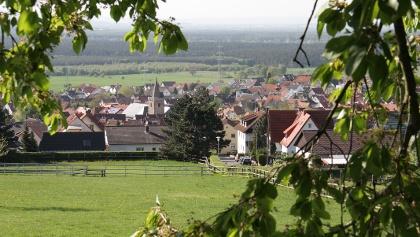 Ausblick auf Hörstein vom Königsberg aus