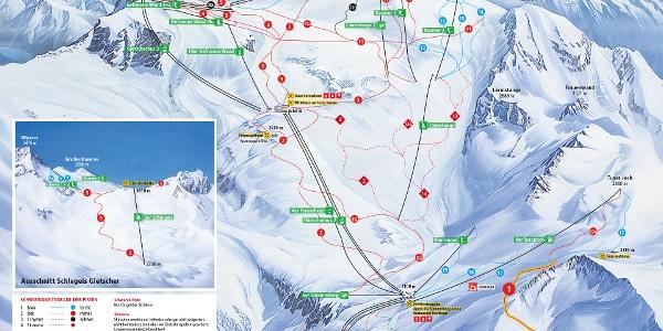 Panorama Hintertuxer Gletscher