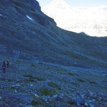 Weg zum Gletschermaul des Ochsentalergletscher