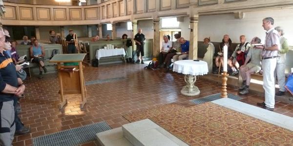 Start in der Kirche von Ebeleben