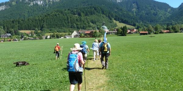 Auf dem Weg zum Kloster Ettal