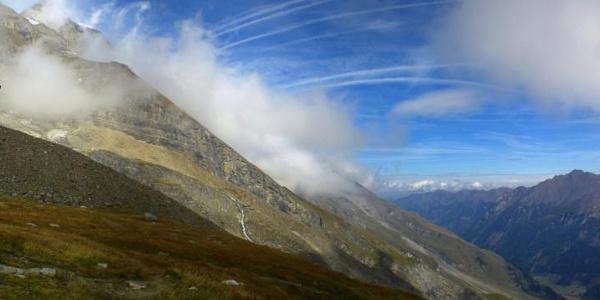 Blick von der Schwarzenberghütte nach Norden