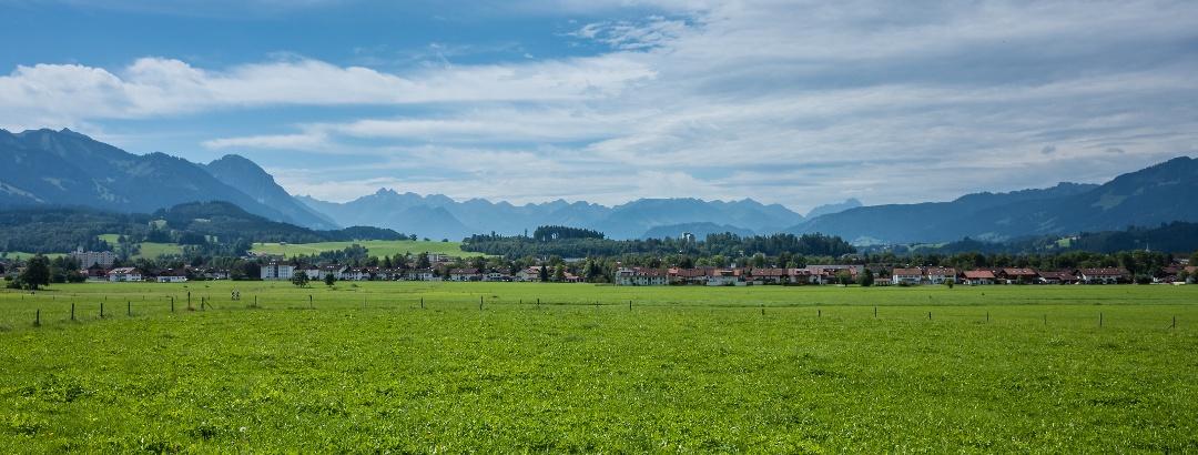 Sonthofen mit den Allgäuer Alpen
