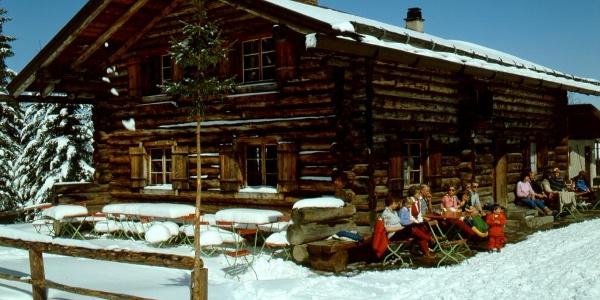 Drehhütte im Winter