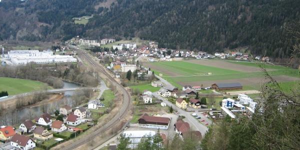 Ausblick auf Leoben-Hinterberg
