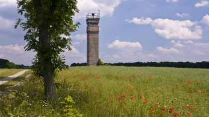 Der Plattenweg bei Eichsfeld an der ehemaligen innerdeutschen Grenze