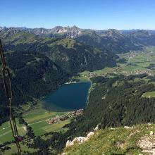 Blick zum Haldensee vom Gipfel aus