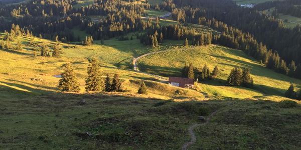 Blick Richtung Riedberger Horn und Riedbergpass