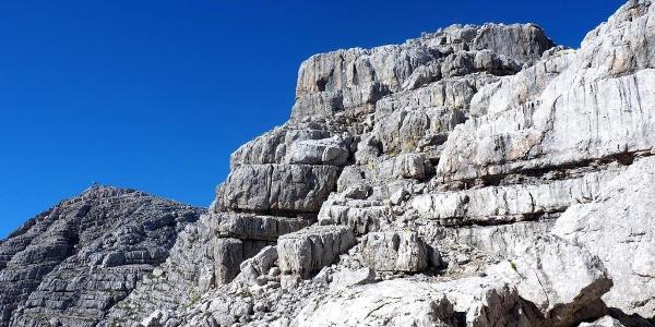 Sicherung Kletterseil um 2250m (gelb markiert)