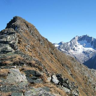 Maresen-Gipfel mit Hochalmspitze im Hintergrund