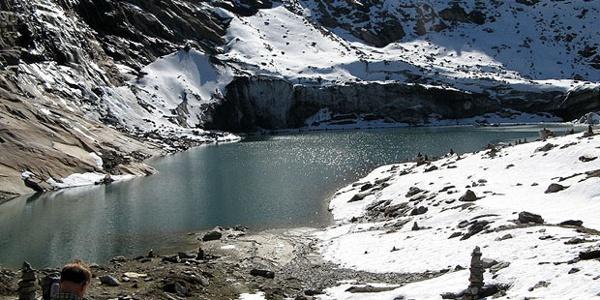 Der Eissee - 30 min Gehzeit von der Warnsdorfer Hütte
