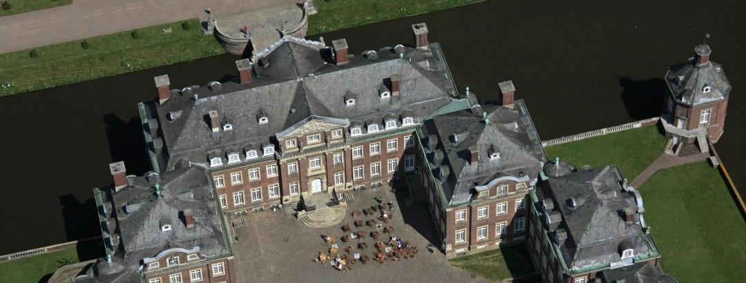 Schloss Nordkirchen aus der Luft.