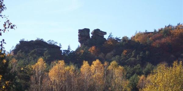 Geiersteine Ansicht aus Richtung Wernersberg