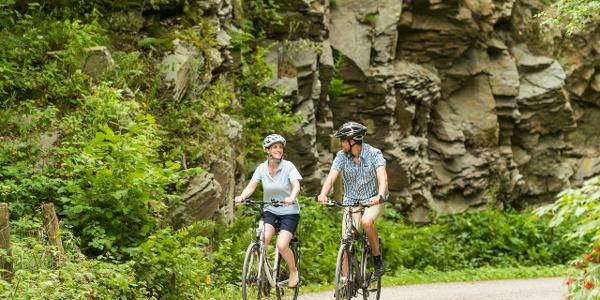 Radfahrer am Kaiserfelsen